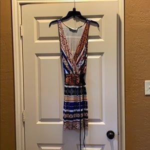 DYF faux wrap mini dress/tunic